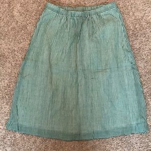 NWT J.Crew Factory green and white plaid skirt - 8